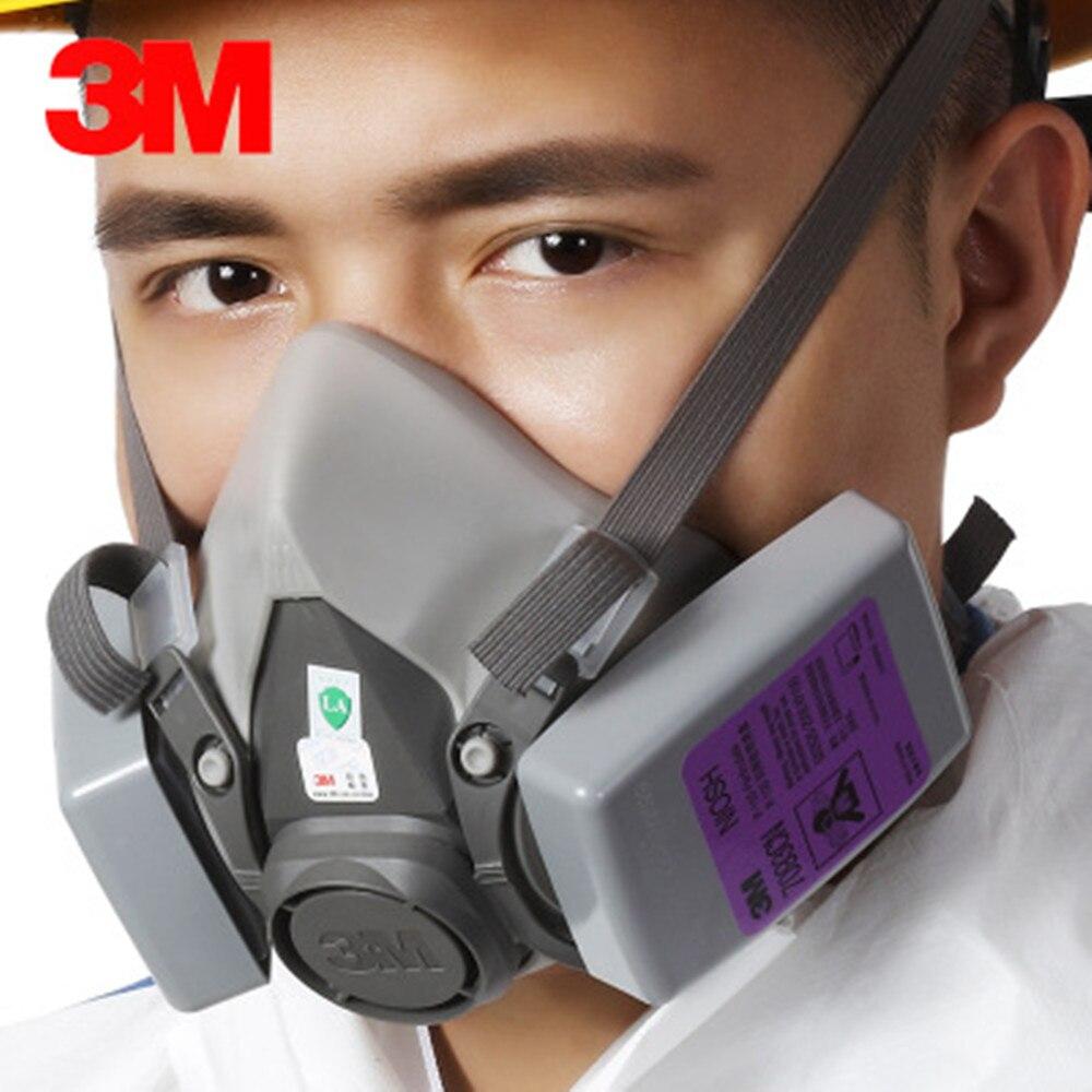 3M6200 + 7093 filtre poussière efficace Anti-poussière Set Anti-poussière Automobile échappement brouillard fumé masque de fumée secondaire