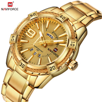 NAVIFORCE Top Luxury Brand Men Watches Fashion Casual Date Display Business Gold Hour Full Steel Male
