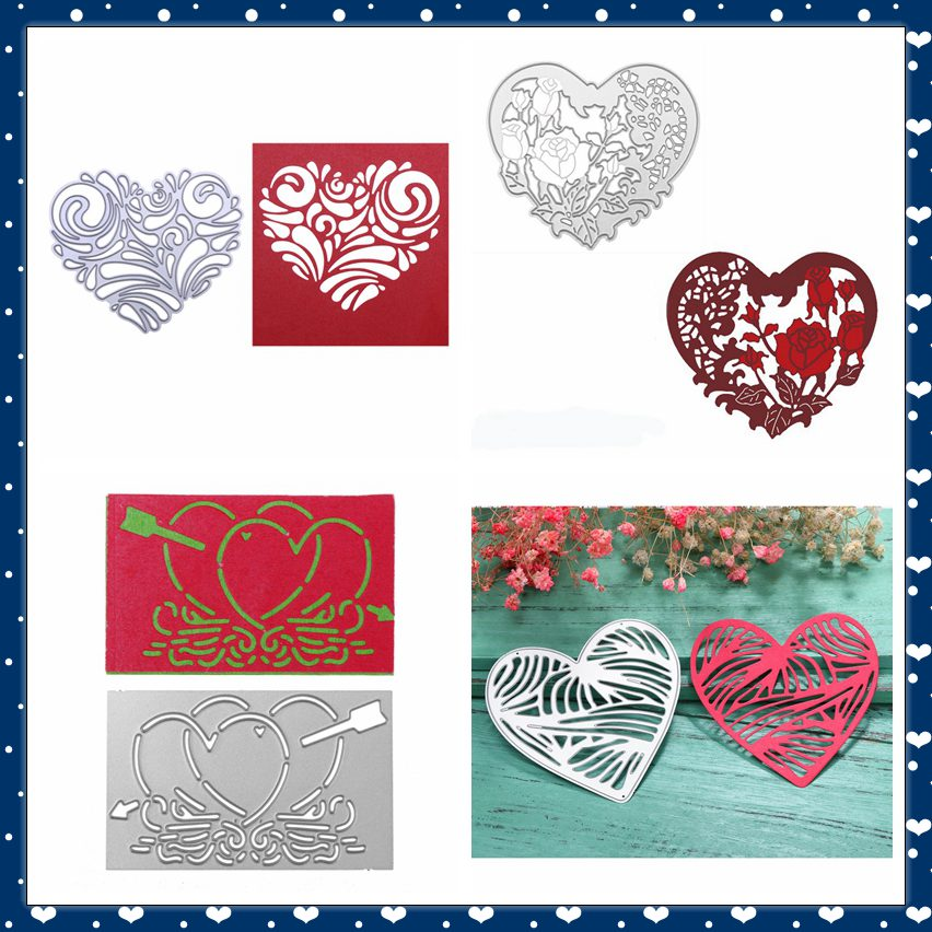 Heart Cutting Dies Stencil For Scrapbooking Album Paper Card Embossing DIY Craft