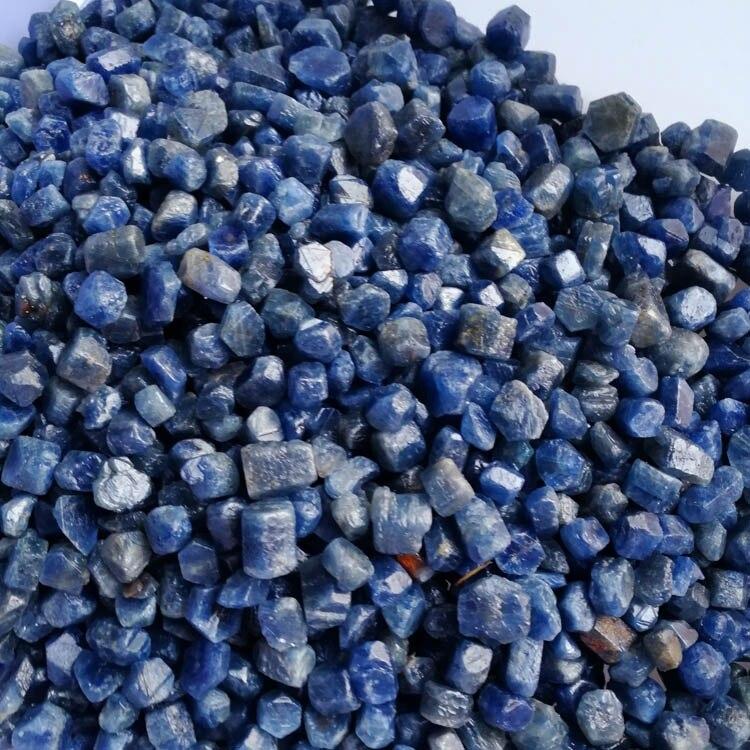 1/2lb Naturel Bleu Saphir Cristal En Vrac Corindon Pierre Brute Reiki Spécimen-in Pierres from Maison & Animalerie    1