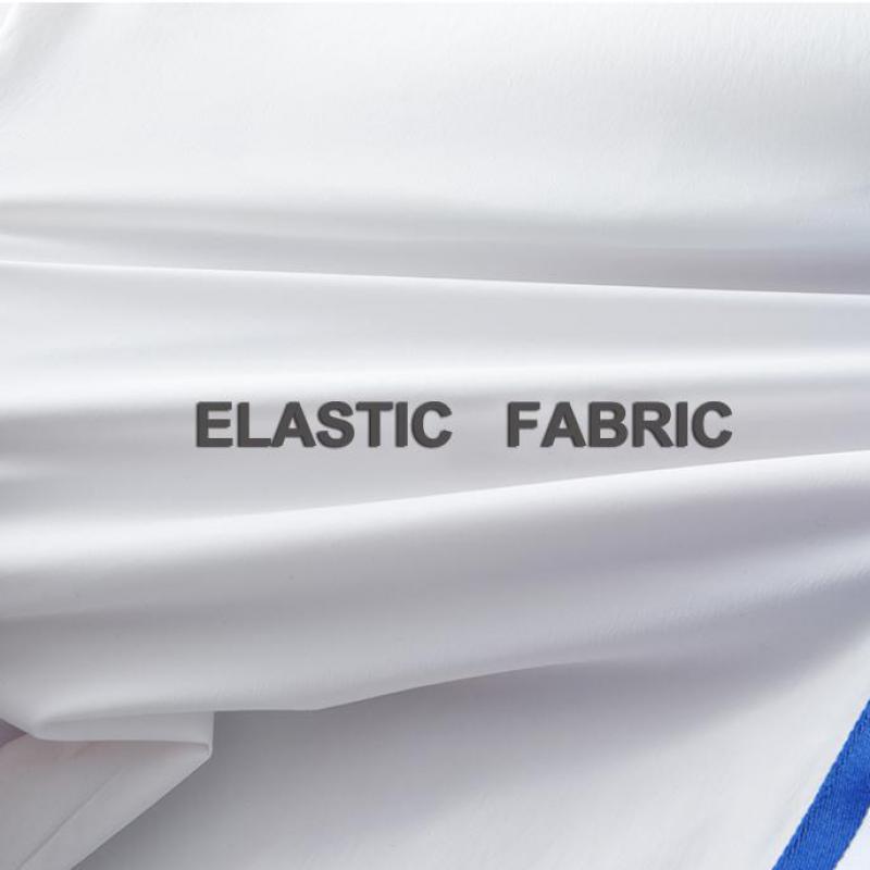 Image 5 - Мужские брюки Minglu, летние мягкие облегающие брюки с  ленточками, контраст цветов, Размер 4XLПовседневные брюки   -