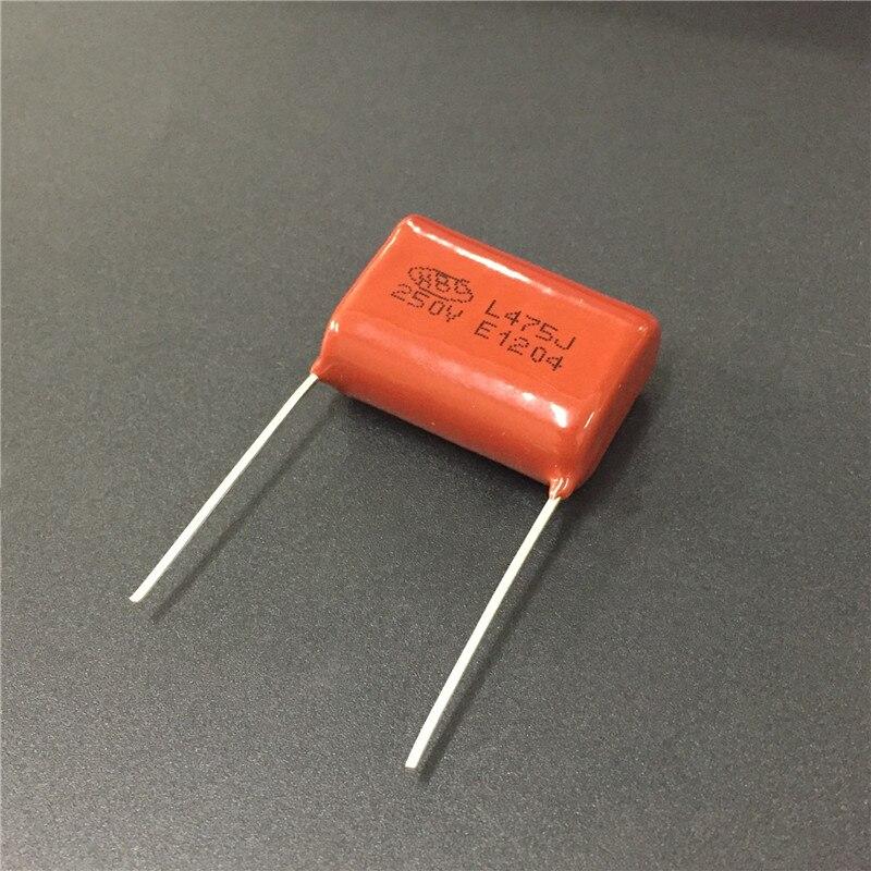 20PCS CBB 475J 250V CL21 4.7UF 4700NF P27 Metallized Film Capacitor