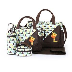 Image 3 - MOTOHOOD 5 adet bebek bebek bezi çantaları anne için değişen Nappy çanta setleri anne bebek bakım arabası bebek çantası organizatör 30*43*14cm
