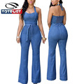 Sexy Denim Overalls Women Jumpsuit Romper 2016 Fashion Denim Jeans Rompers Womens Jumpsuit Skinny One Piece Coveralls jumpsuit