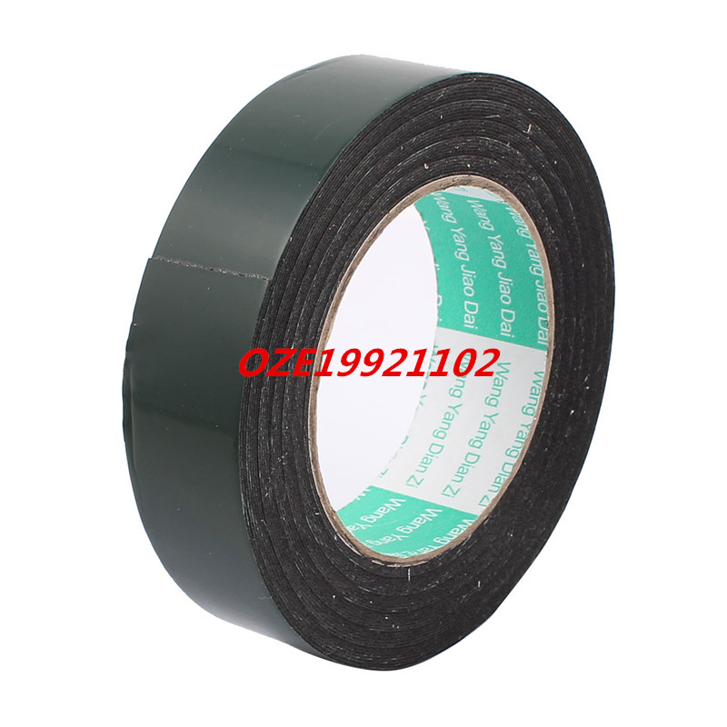 30mm x 0.5mm Black Dual Sided Self Adhesive Sponge Foam Tape 10M Length 2pcs 2 5x 1cm single sided self adhesive shockproof sponge foam tape 2m length