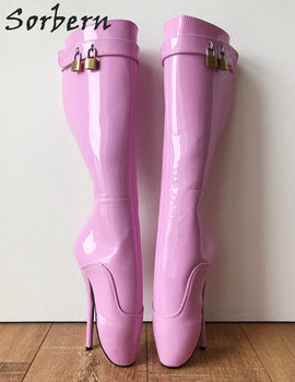 Sorbern Custom Wide Calf Boots Women Sexy Fetish Ballet High Heel 18Cm Custom Shoes Gay Crossdressing Booties Plus Size 15