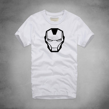 Newest The Avengers Funny Fashion Men T-shirts Summer Cotton Short Sleeve O-Neck Tops Tees Cartoon Iron Man printed T shirts