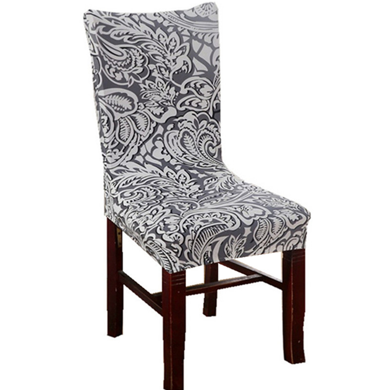 Cheap Dining Room Chair Covers: Aliexpress.com : Buy Grey Leaf Chair Covers Cheap Jacquard