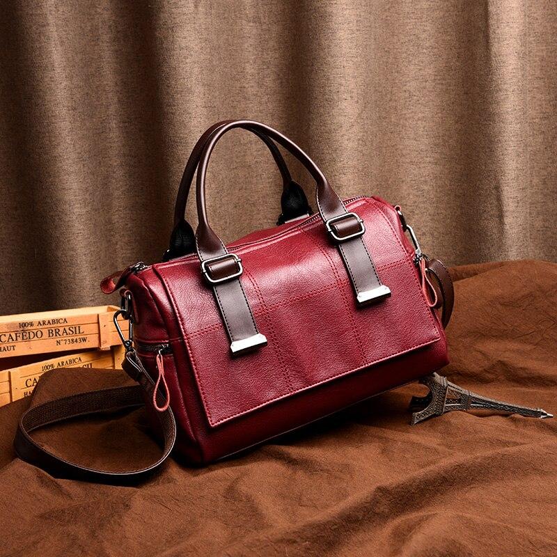 Elegant Women Handbag Plaid Temperament Female Shoulder Bag High Quality Exquisite PU Leather Soft Waterproof Shaped