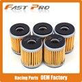 5 x filtro de óleo limpo para corrida tm 250 450 660 4 t yfp350 yamaha atv yfm350 yfm400