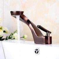 Basin Faucet Bathroom Sink Faucet Basin Oil Rubbed Bronze Faucet Mixer Single Handle Hole Deck Wash Hot Cold Mixer Tap Crane