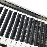 Mikiwi 12 рядов/Чехол 9 ~ 14 мм Премиум Натуральная синтетическая норка индивидуальное наращивание ресниц макияж maquiagem cilios натуральный 50 шт