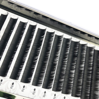 Mikiwi 12rows/case 9~14mm premium natural synthetic mink individual eyelash extension makeup maquiagem cilios natural 50pcs