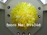 Lr151 Бесплатная доставка Best продавец Чихули Стиль Современная Желтый Люстра