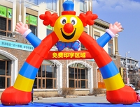 free air blower creative beautiful and colorful Inflatable clown arch/air clown entrance for circus performance made in China