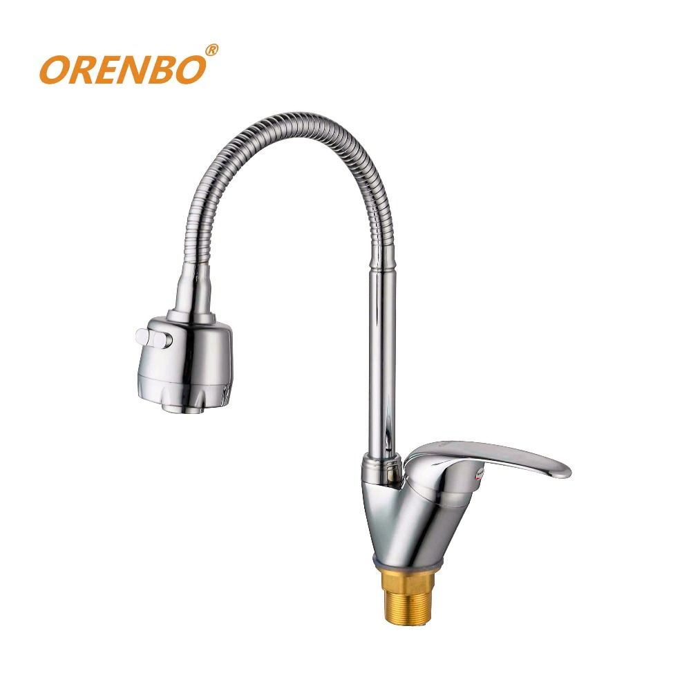 popular kitchen tap sets buy cheap kitchen tap sets lots from orenbo new arrival brass kitchen faucet mixer cold and hot kitchen tap 360 degree swivel sink faucet 1 set free shipping