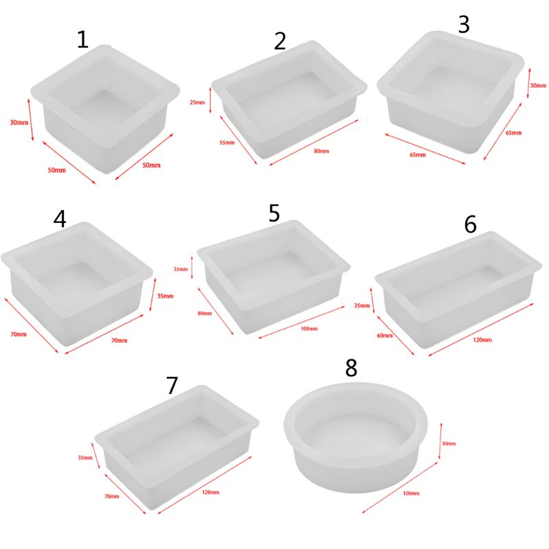 Pressed Flower Silicone Mold Square Round Cubic Epoxy Resin Molds Jewelry Tools