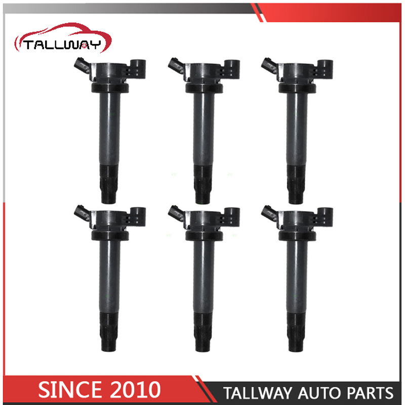 6PCS Ignition Coil 90919 02246 9091902246 90080 19025 9008019025 For TOYOTA CAMRY HARRIER KLUGER Sienna For