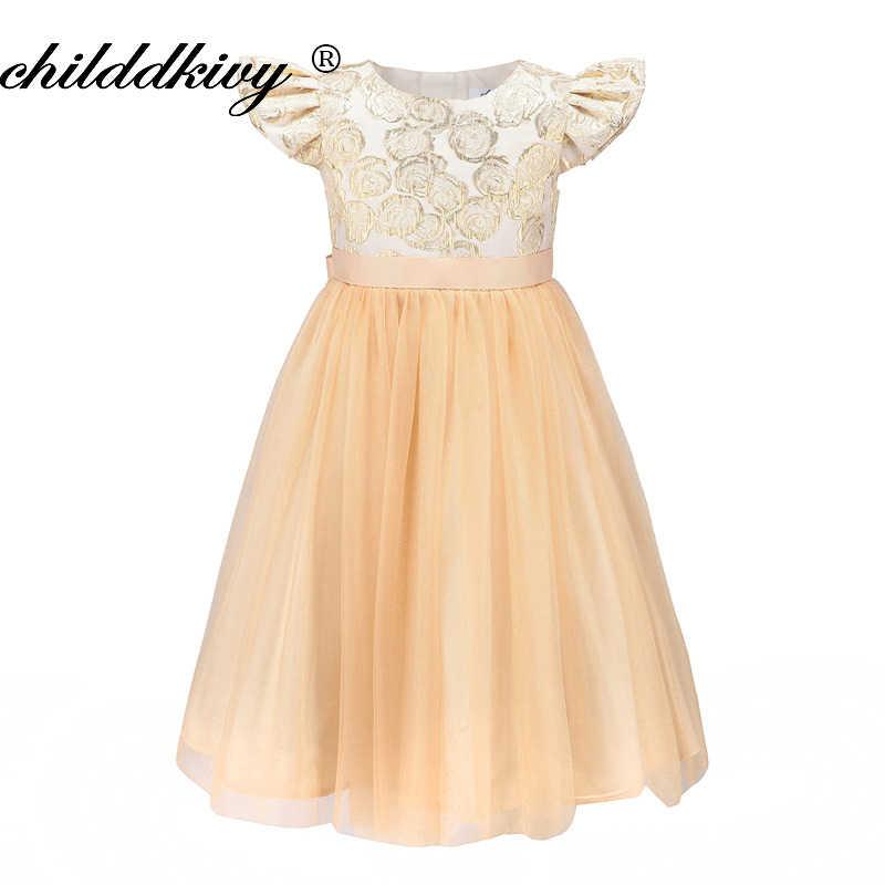 077076e5079 ChildDkivy От 3 до 12 лет осень-зима кружевное платье принцессы для девочек  Детские платья