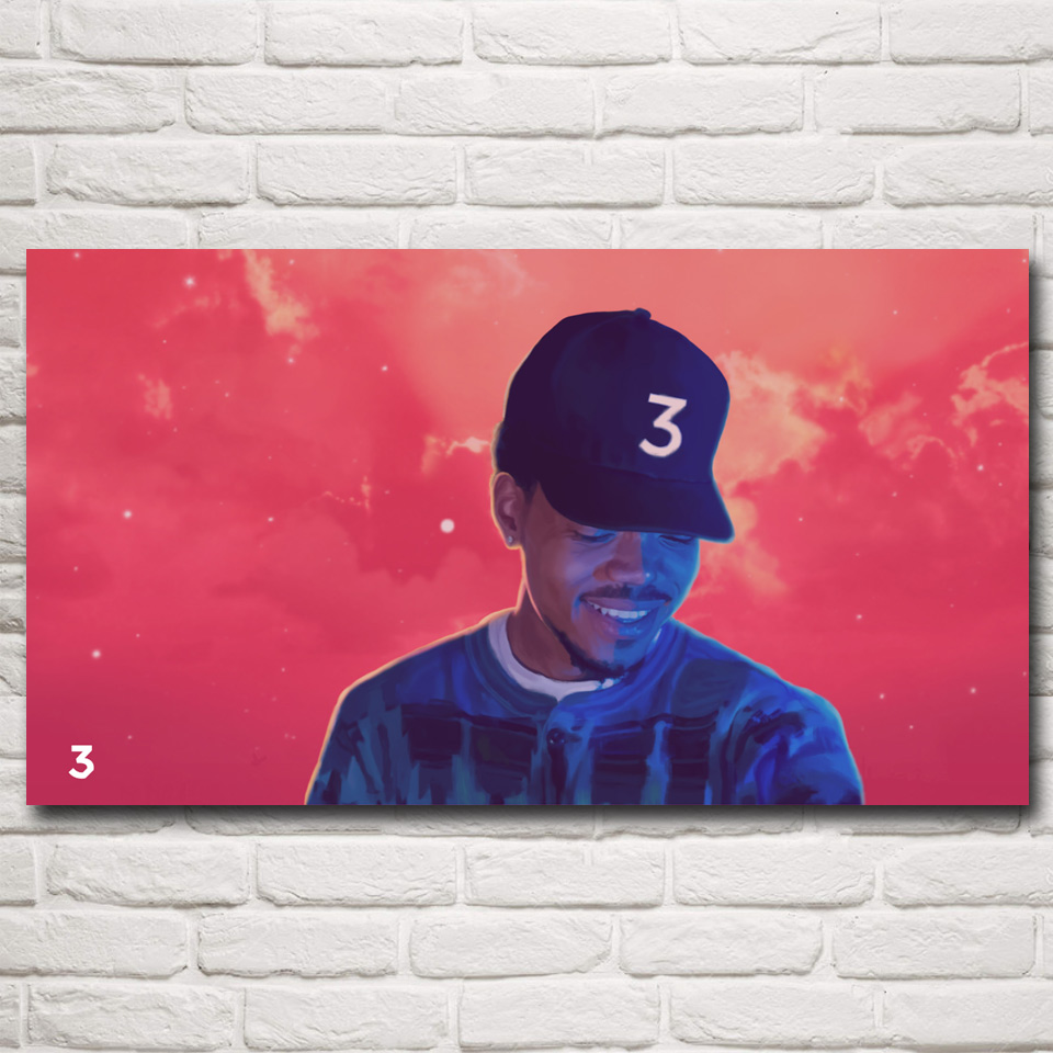 Abstract Chance Space Rap Rapper Art Silk Fabric Poster Prints 11x20 16x29 20x36 Inches Wall Home Decor Pictures Free Shipping