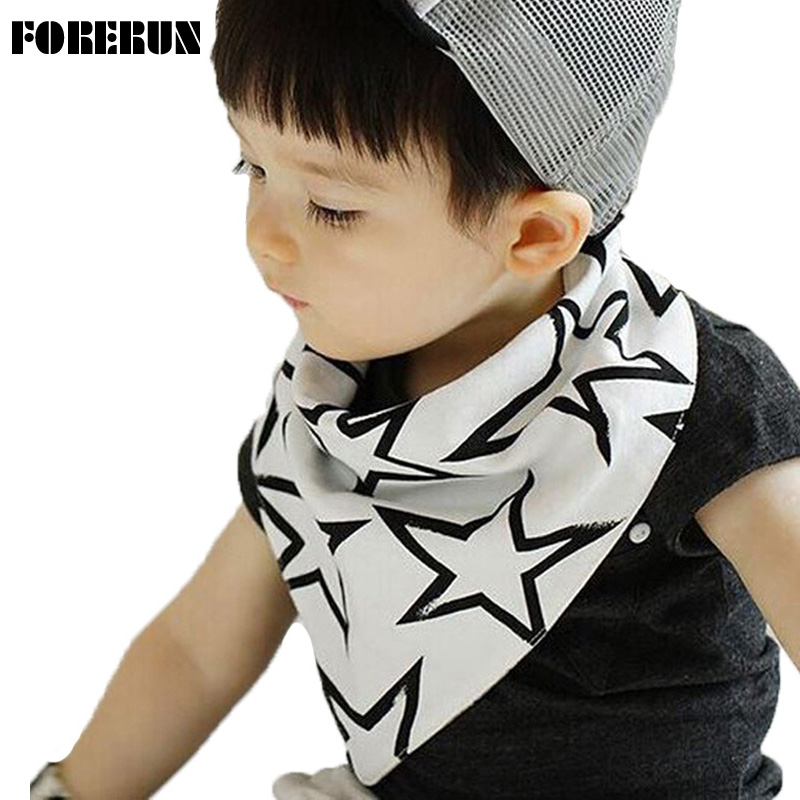 2016 Fashion Baby Bibs with Stars Button Style Baby Boy Bibs Solid Moms Care Slabbers Pure Cotton Baby Bandana Bib for Newborn