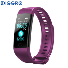 hot deal buy diggro db07 smart wristbands color lcd screen fitness bracelet ip67 waterproof smart bracelet heart rate for ios android