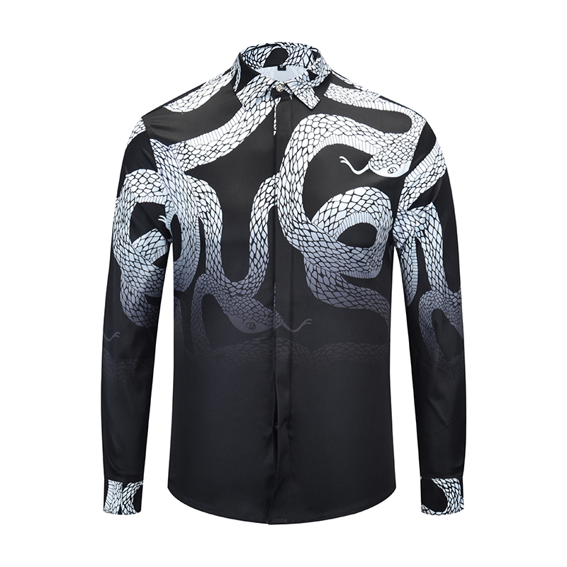 Cierto Reveler ropa de marca de camisetas de los hombres de manga larga boa negro  blusa de diseñador de serpiente hip hop camisetas de camisas de vestir en  ... dfdde4f58d8