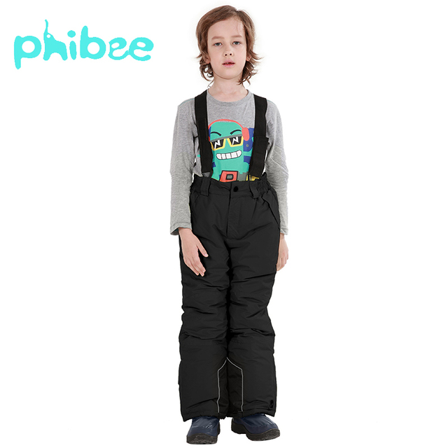 c561abc88e15 Phibee Boys Children s Winter Ski Pants Outdoor Waterproof Windproof ...