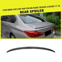 F90 Carbon Fiber Rear Trunk Spoiler Wing Boot Lip for BMW G30 Spoiler 5 Series 530i 540i F90 M5 Sedan 4 Door 2017 2018 2019