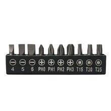 цена на 20pcs Impact Screw Driver 25 mm 1/4 PZ2 Hex Pozi Drive Screwdriver Bits