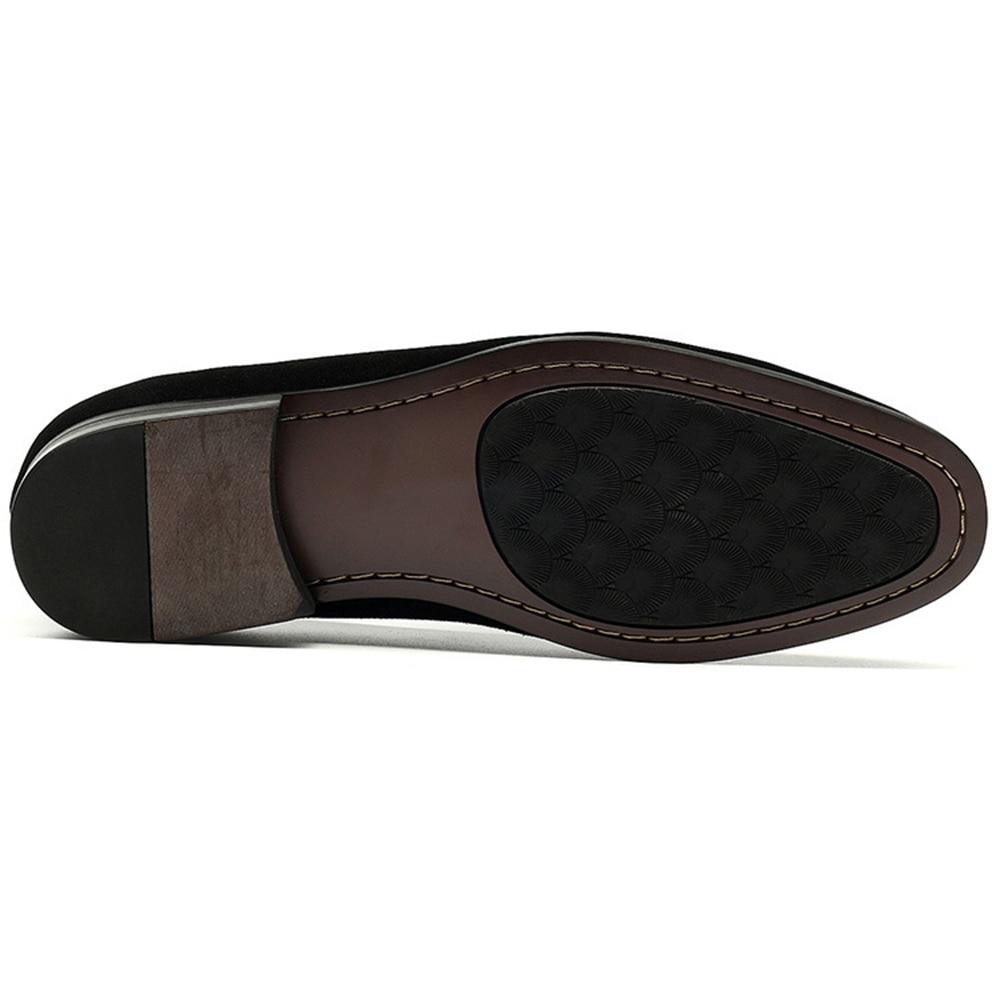 Mens De Couro Dos Loafer Vaca Em Sapatas Deslizamento Sapatos Chefe Clássicos Fumadores Homens Alta Europeus Preta Qualidade Chinelos Camurça Sipriks Da Flats fqPwFE5w