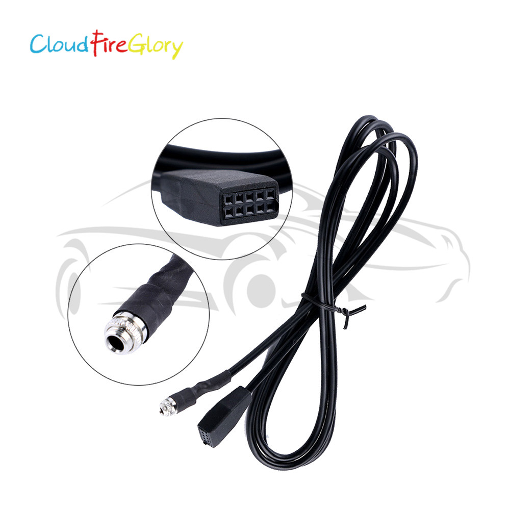 3.5 mm Car Audio Radio Aux-in MP3 Interface Adapter Cable for BMW E53 E39 X5 E46 1998-2006 Interface Adapter MP3 Music Cable