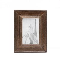 Vintage Retro legno Photo Frame Cornice con il Basamento Home Office Tavolo Decor 4x6 Pollici