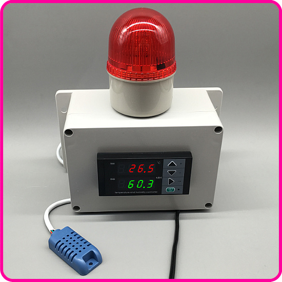 Digital Display Temperature and Humidity Alarm, Greenhouse Culture Room Temperature and Humidity Measurement. wall hung type humidity and temperature transmitter as109 with alarm output control and rs 485 humidity