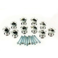 Hotsale 10 Pcs 20mm Crystal Glass Clear Cabinet Knob Drawer Pull Handle Kitchen Door Wardrobe Hardware