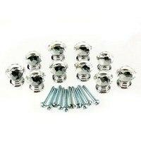 Hotsale 10 Pcs 20mm Crystal Glass Clear Cabinet Knob Drawer Pull Handle Kitchen Door Wardrobe Hardware