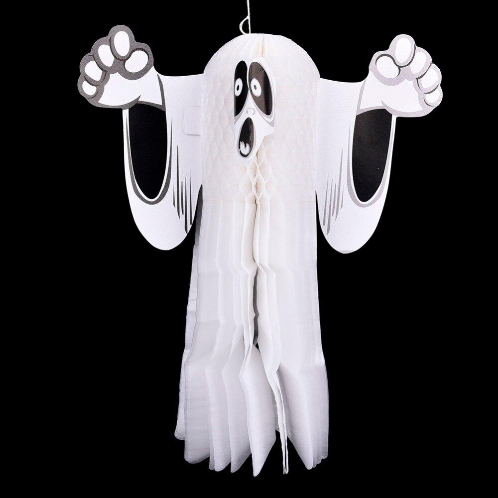Хэллоуин Бар ужас призрак кулон призрак 3D s/М призрак Украшения реквизит украшения трюк или лечения дома Бумага вафельная детские игрушки