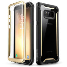 For Samsung Galaxy S8 Plus Case Original i Blason Ares Series Full Body Rugged Clear Bumper Case with Built in Screen Protector