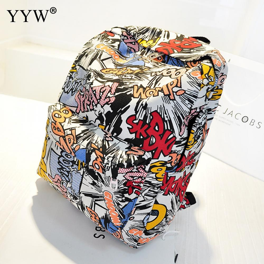 Canvas Printed Backpack High Quality Students School Bag For Teenage Girls Boys Backpacks Bags Cartoon Printing Rucksack Escolar