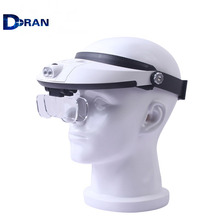 Hands Free Head Headband Helmet Magnifier Glasses Loupe With LED Light and 5 lenes 81001-H