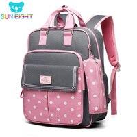 SUN EIGHT Dot Girl School Backpacks School Bags for Girls Children Backpack Kids Backpack Kids Bag Mochila Escolar