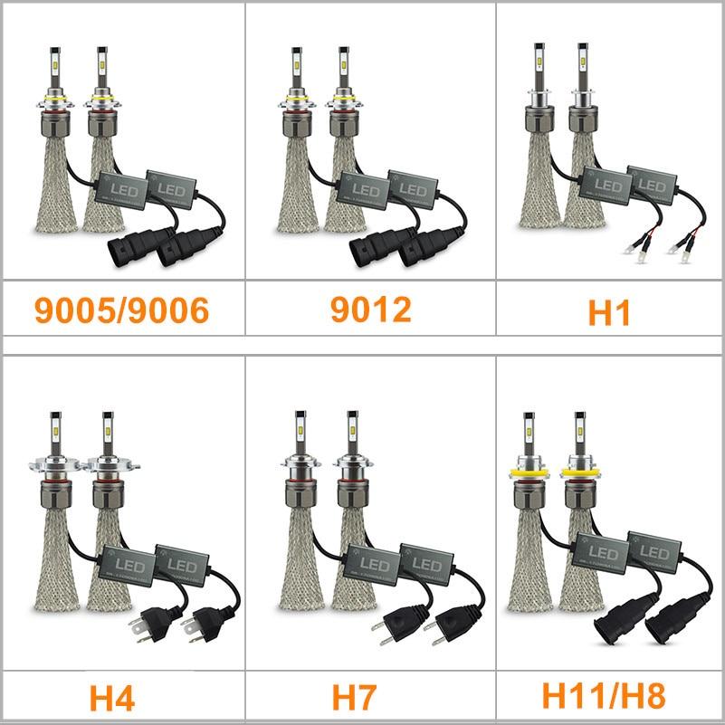 oxilam car led headlight bulb h4 h7 h11 h8 h9 9005 9006 9012