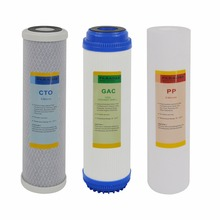 Replacement Pre-Filter Sets for Drinking Water Filtration System/RO System Stage 1, 2&3, pack of Sediment Filter 5UM, GAC&CTO 3 stage water filter purifier system