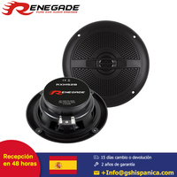 RENEGADE Altavoz Car Coax System 13m Coaxial Speaker incl Grillset 25mm Neodym Mylar Tweeter Polycone 120 Watts