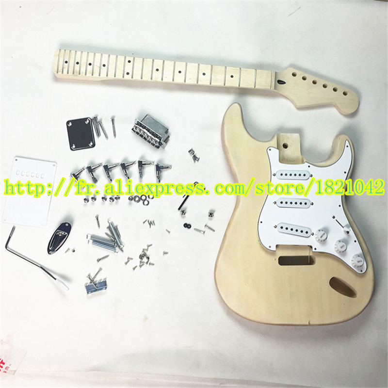 2015 high quality electric guitar ST maple fingerboard, basswood body skin cover, semi-finished guitar suit, free shipping vicers guitars china maple fingerboard t ele caster electric guitar in stock free shipping