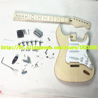 2019 high quality electric guitar ST maple fingerboard, basswood body skin cover, semi finished guitar suit, free shipping
