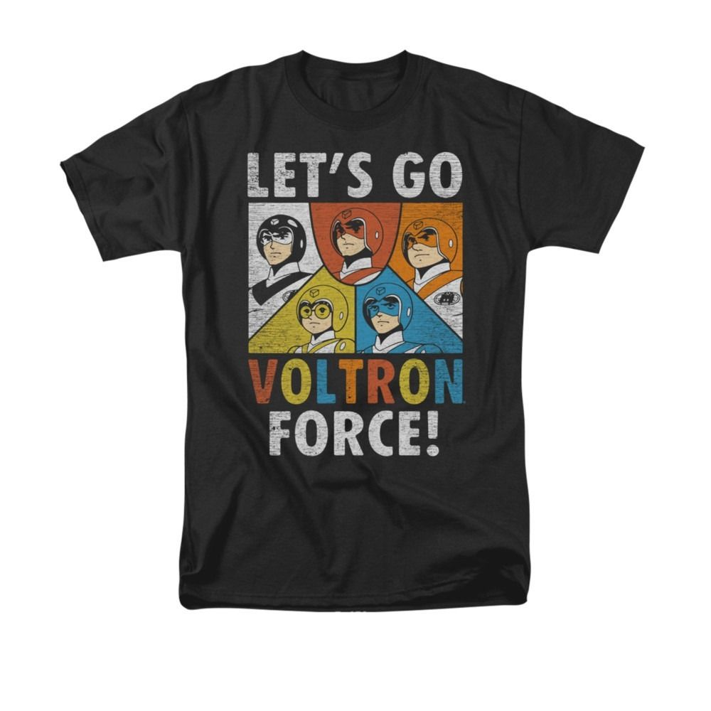 2018 Short Sleeve Cotton T Shirts Man Clothing Voltron Lets Go Voltron Force Adult T Shi ...