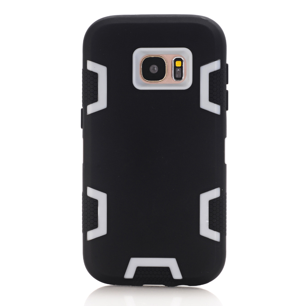S7 Couqe Combo Skin Case For Samsung Galaxy S7 Cell Phone Covers Hybrid Silicon Armor Case Fundas Etui Shockproof Accessories
