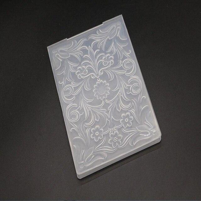 Flower Pattern Plastic Scrapbook Embossing Folder Diy Craft Template