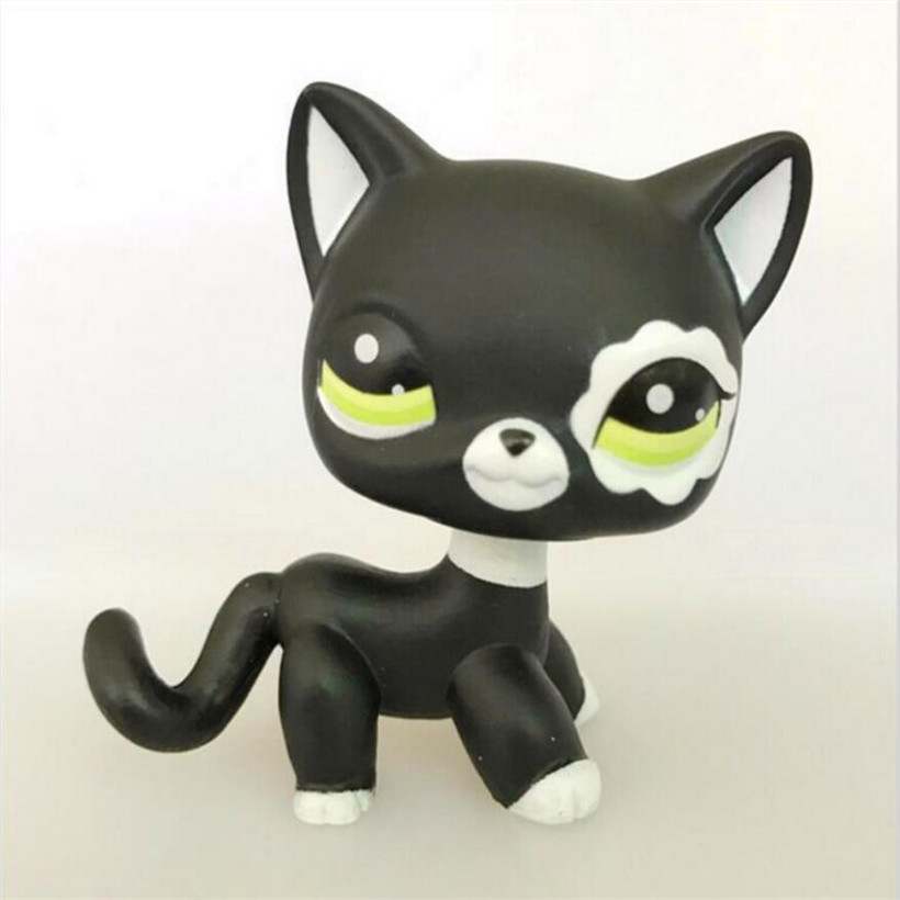 5 CM LPS Kawaii Anime Pet Shop PVC Animal Black Short Hair Cat Kitty #33 Doll Action Figure Model Kids Toys Nice Gifts